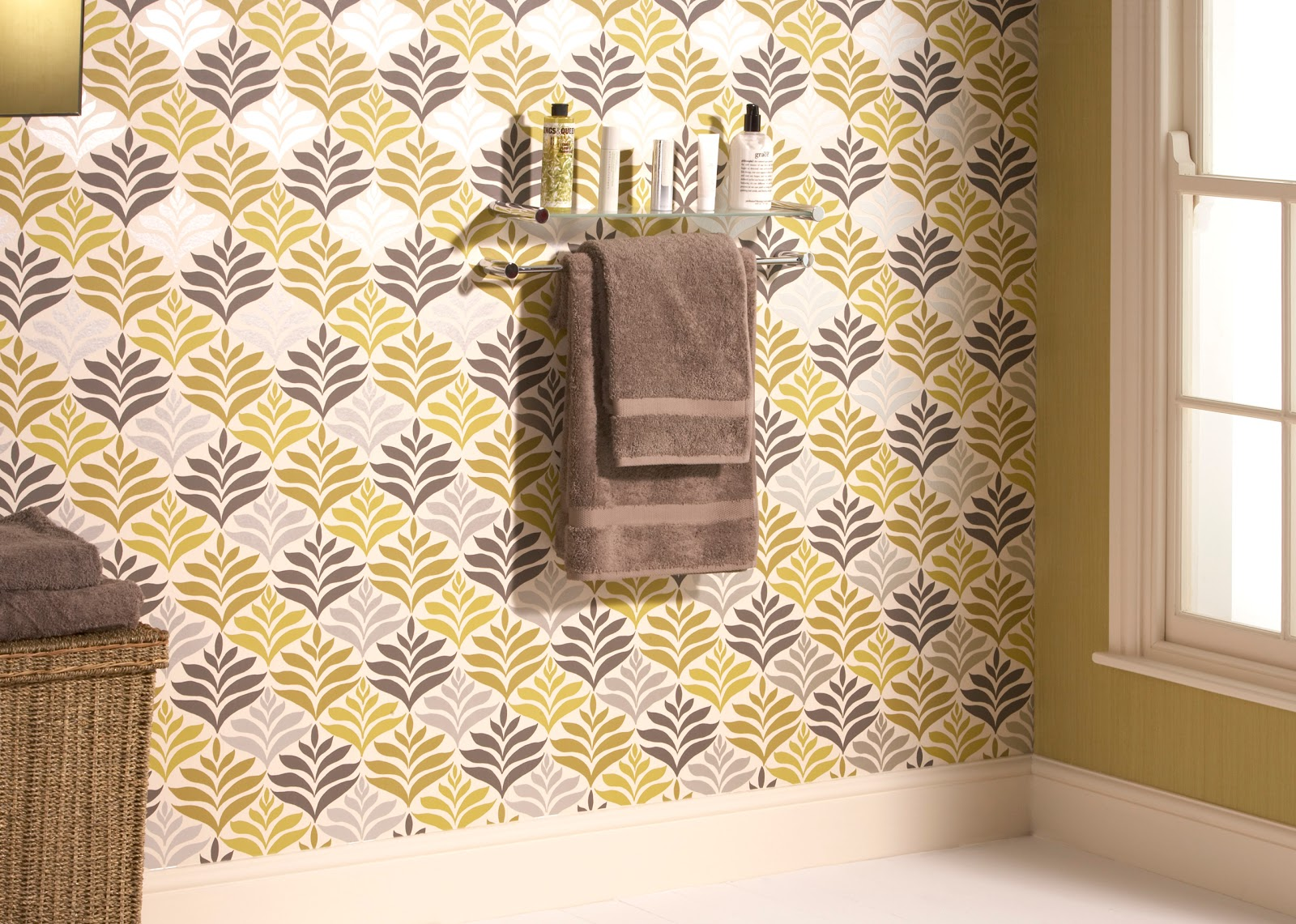 wallpaper photo taken from today interiors note for bathroom wallpaper ...