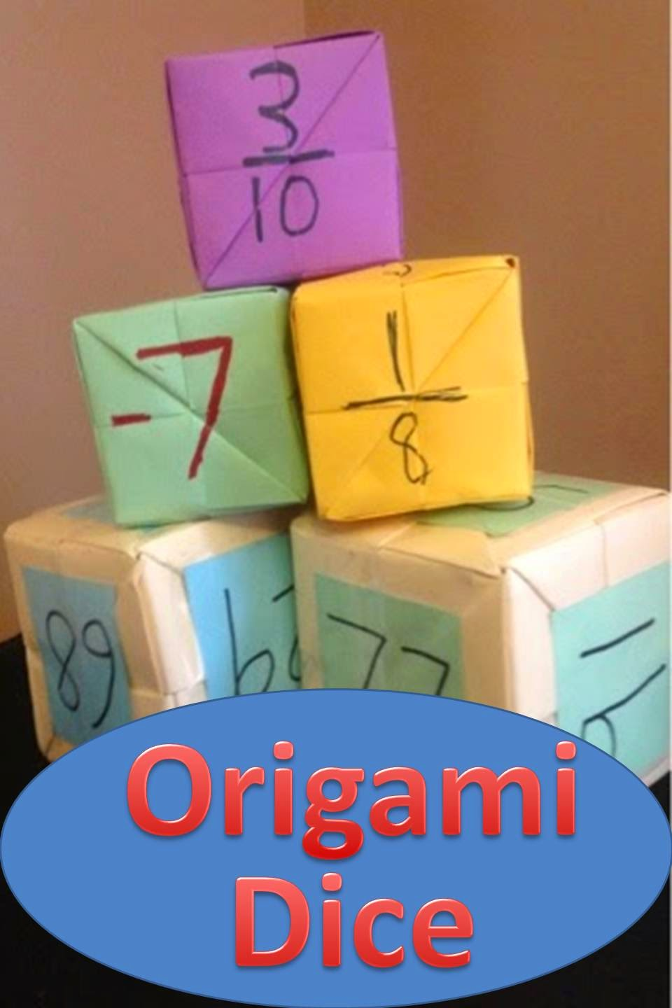 The Elementary Math Maniac You Oughta Know About Making Origami Dice