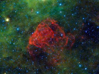 Туманность Puppis A в созвездии Корма
