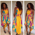 2015 Ankara Creative Style Mixed with Yellow Lace Fabric