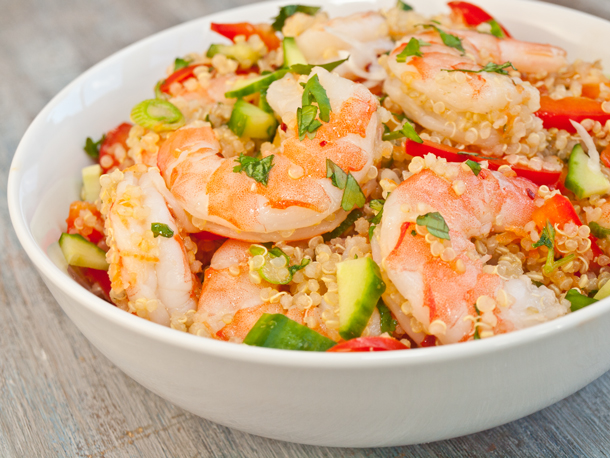 shrimp coconut curry noodle soup with shrimp quinoa tabbouleh quinoa ...