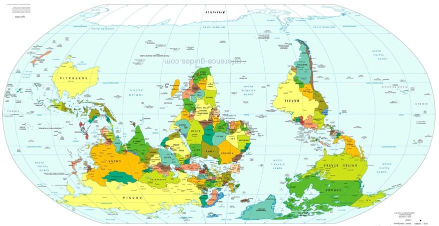 A viso eurocntrica nos mapas  Momentum Saga