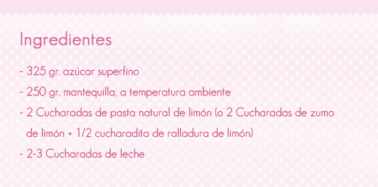 Receta buttercream de lim n be sweet reposteria creativa - Ingredientes reposteria creativa ...