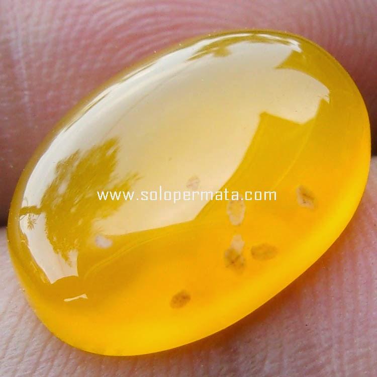Batu Permata Garut Kuning Calcedhony
