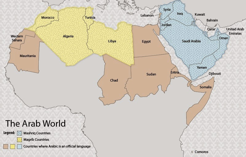 map on monday sunni arab states