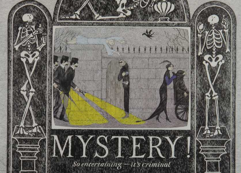 PBS Mystery promotional poster by Edward Gorey