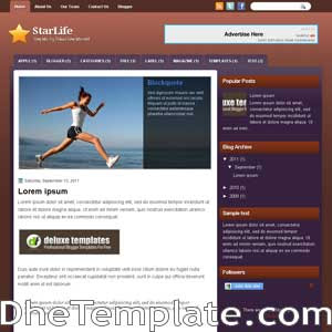 StarLife blogger template. template blogspot magazine style