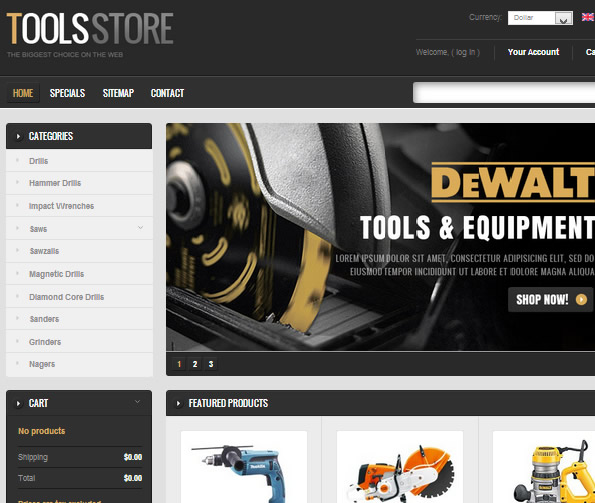 Ecommerce Site Name : Tools Store