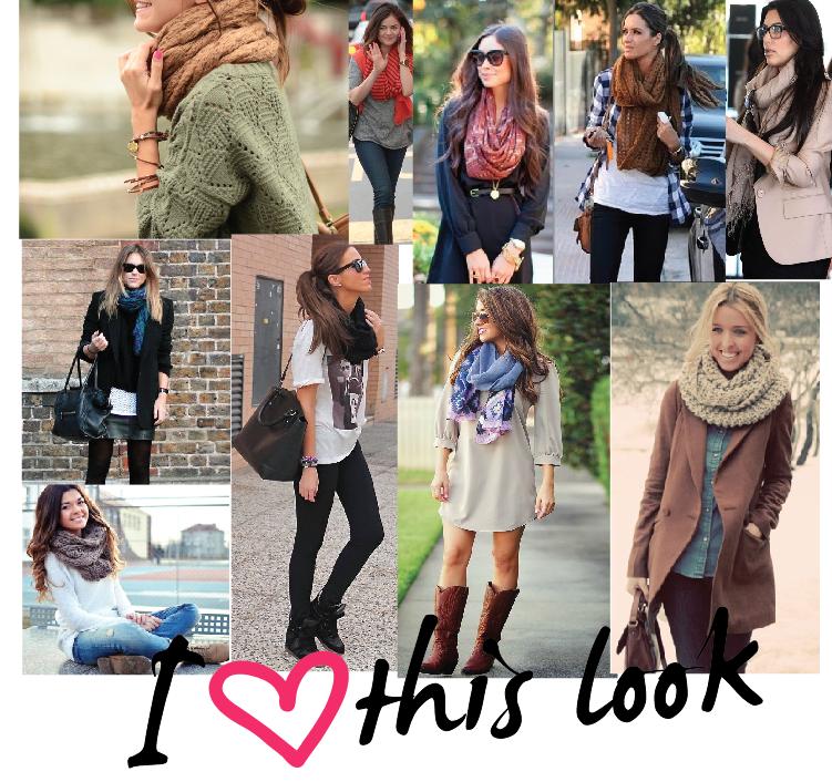 Definitivamente para otoño,invierno, no pueden faltar las bufandas y pashminas le van a todo,se sigue usando muchísimo , últimamente he visto mucho las que