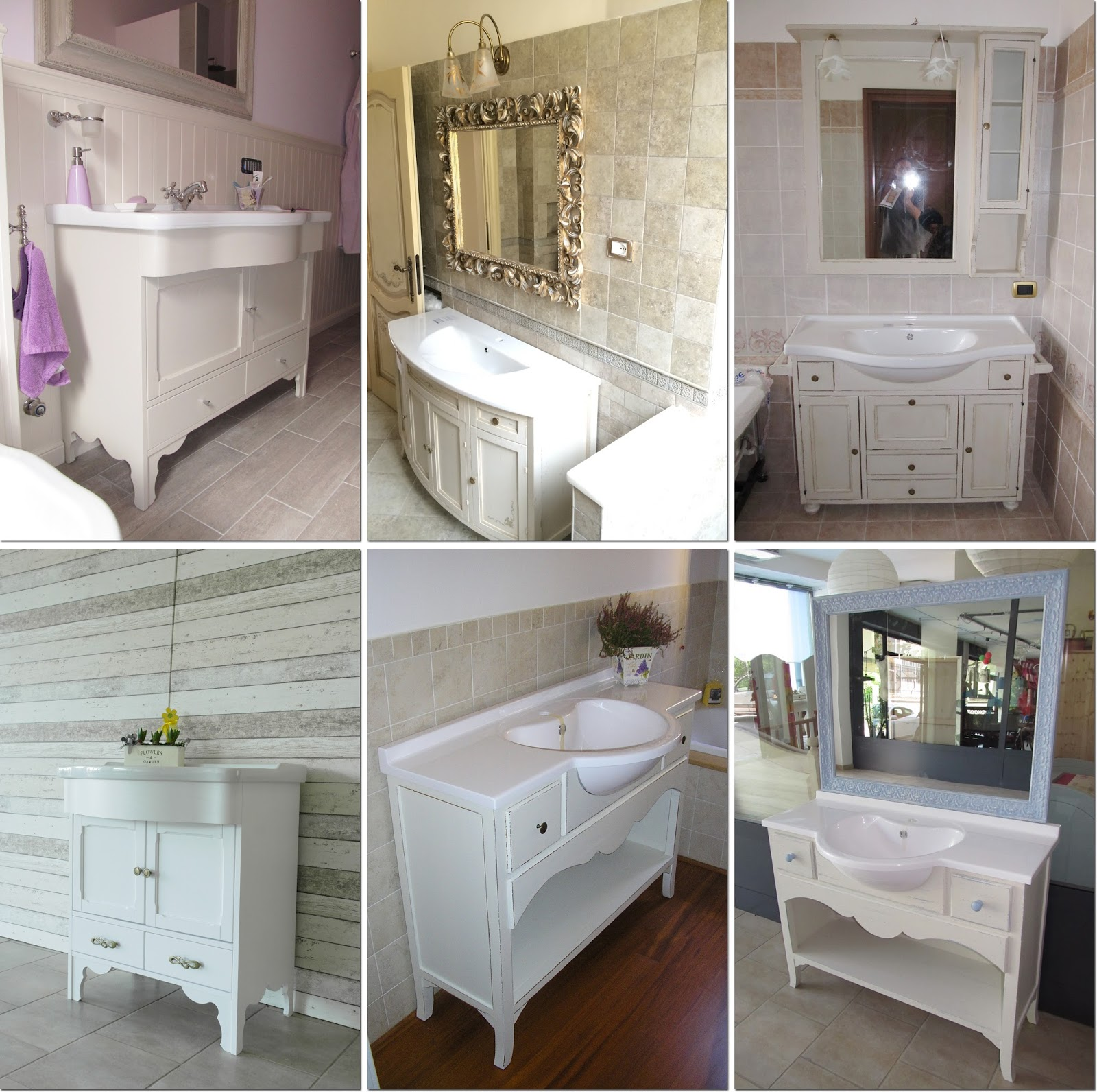 Un mobile lavabo, mille decorazioni   shabby chic interiors
