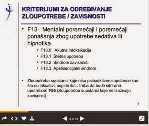 kriterijum za odredjivanje zloupotrbe i zavisnosti od benzodiazepina