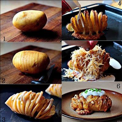 Receita de Batata hasselback (batata laminada)