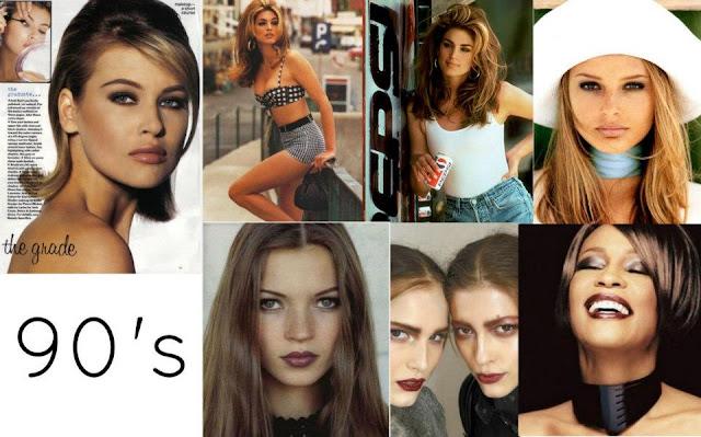 maquillaje de 1990, maquillaje en la década de los 90
