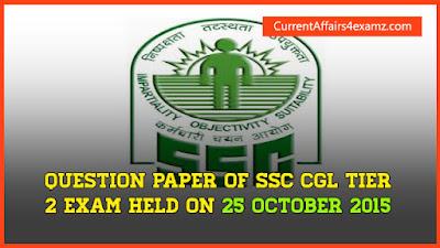 SSC CGL Tier 2 2015