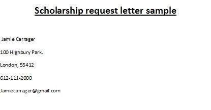Scholarship letter samples scholarship request letter sample altavistaventures Image collections
