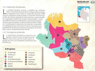 Regiones del Departamento de Nariño