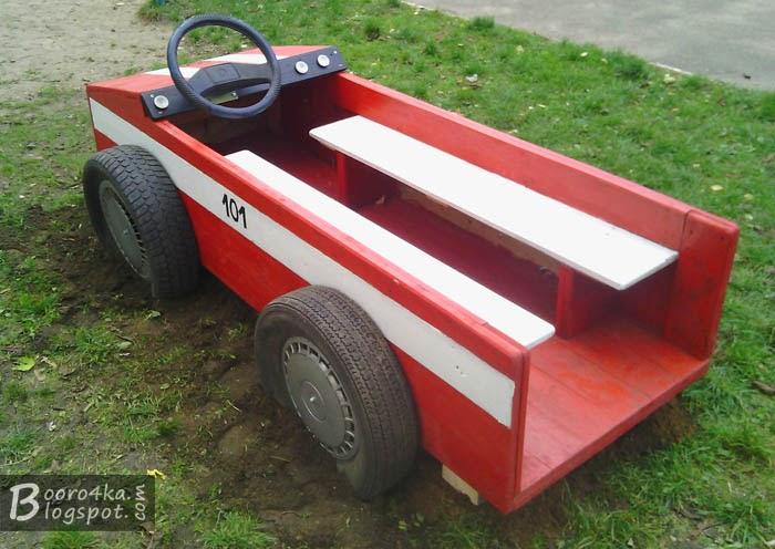 Как сделать машину для детской площадки мастер класс