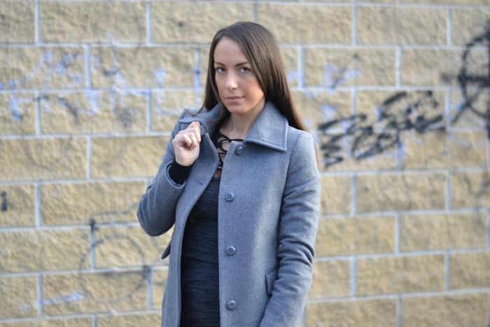cappotto grigio elegante