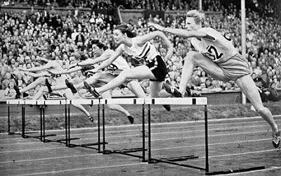 1948 Olympics hurdles race