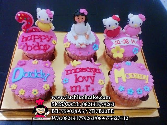Cupcake Ulang Tahun Hello Kitty Untuk Putri Tercinta Daerah Surabaya - Sidoarjo
