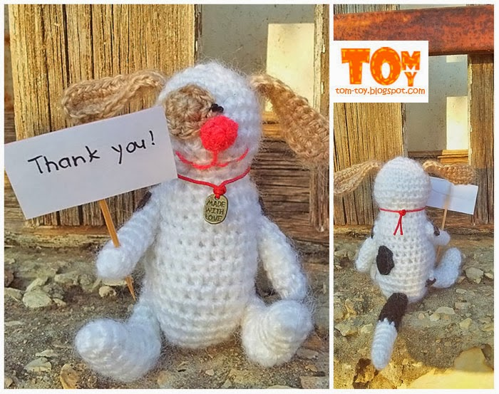 "Crochet dog"" Thank you"""