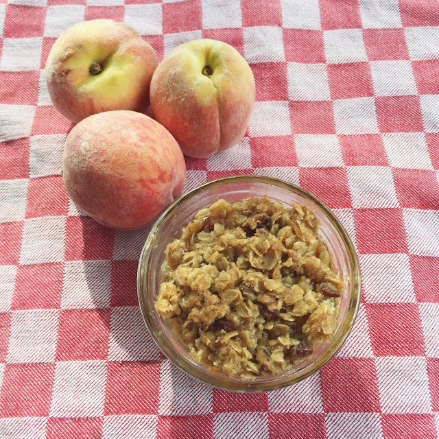 Peach Crisp, Recipe, Dessert, Summer