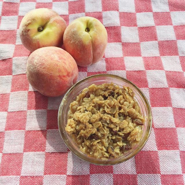 Peach Crisp, Recipe, Dessert, Summer