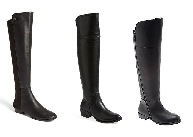 Curvy Fashionista Wide Calf Boots Over the Knee