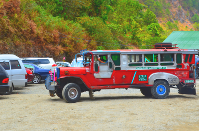 Ride this jeepney in going to Holy Land and Dinosaur Island