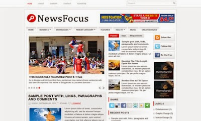 News Focus - Free News Blogger Template