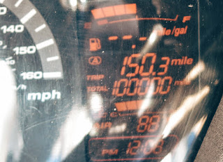 100000 miles on the odometer
