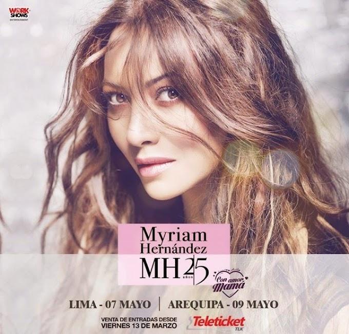Myriam Hernandéz en Arequipa, Venta de entradas - 09 de mayo