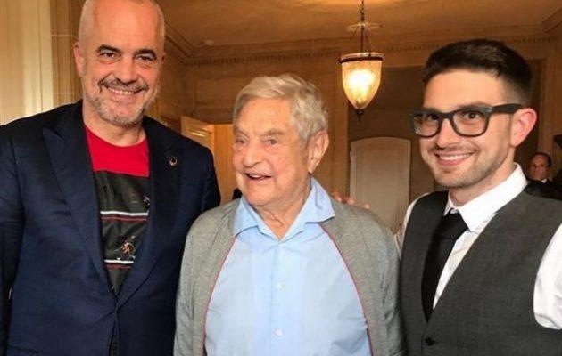 Ο Έντι Ράμα πήγε να δει τον Τζορτζ Σόρος που τοποθέτησε πρωθυπουργό της Αλβανίας ! θεωρίες συνωμοσίας έλεγαν κάποιοι!