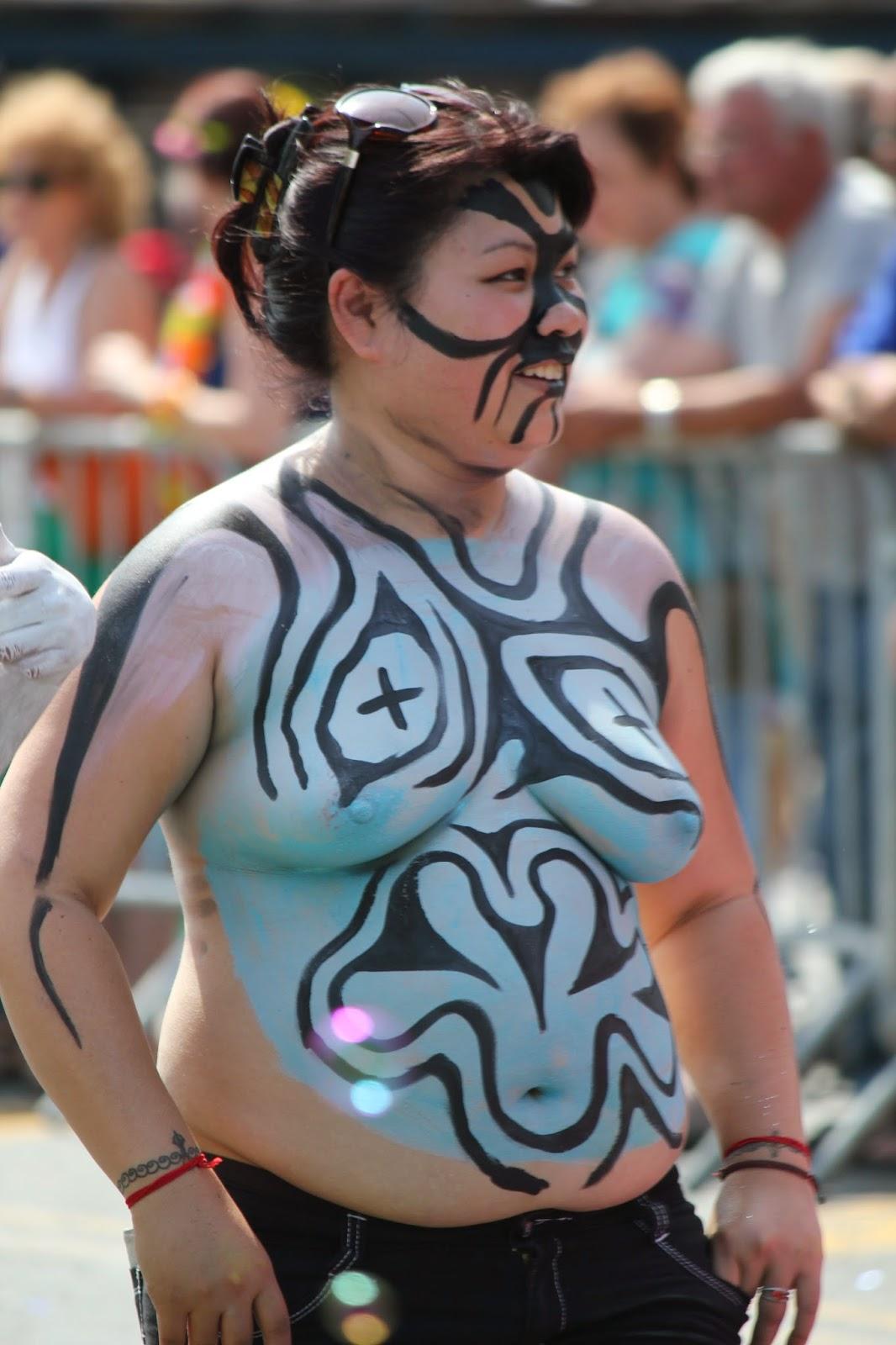 fotografia de pintura corporal - Body painting