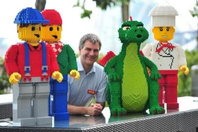 General manager of Legoland Malaysia Siegfried Boerst and friends.