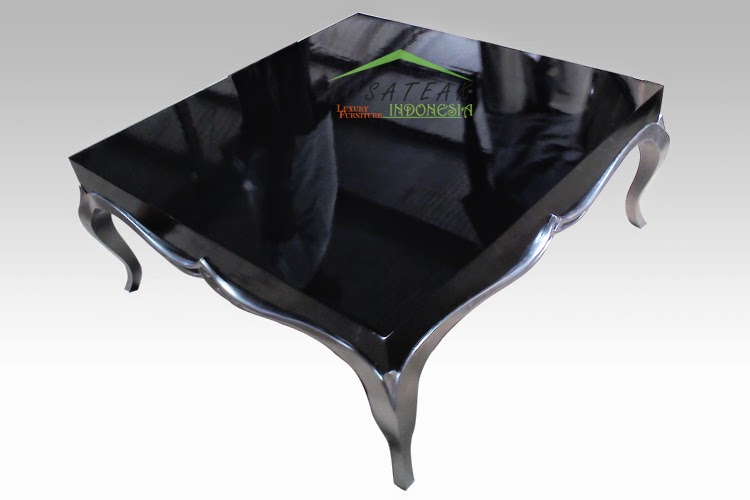 Black Coffee Table with Silver Legs: Zifaro 2