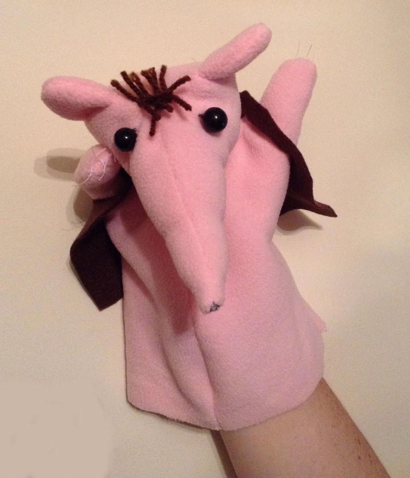 how to make fleece puppet
