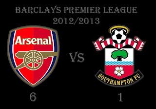 Arsenal vs Southampton Barclays Premier League Results