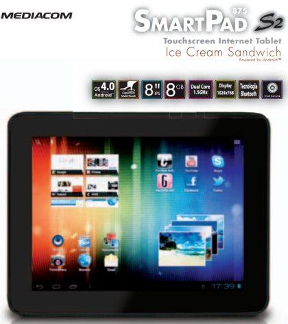 Smartpad 875 S2 da mediacom con processore dual core
