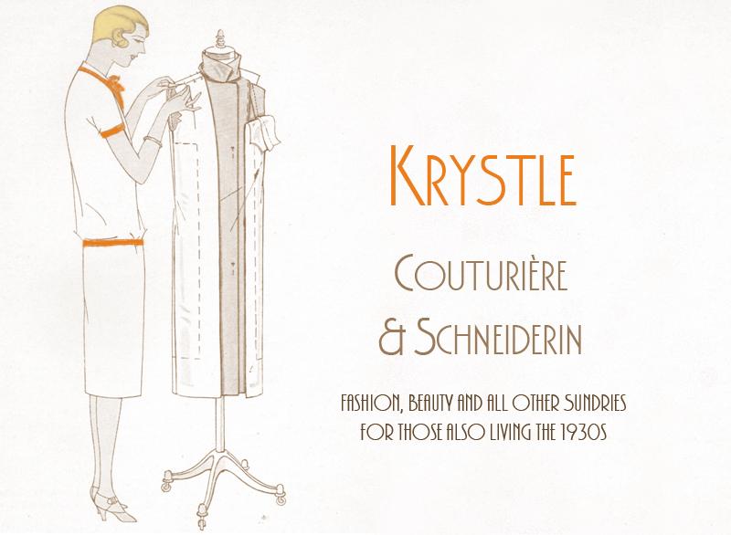 Krystle! Couturiere & Schneiderin Vintage 1930s Blog!