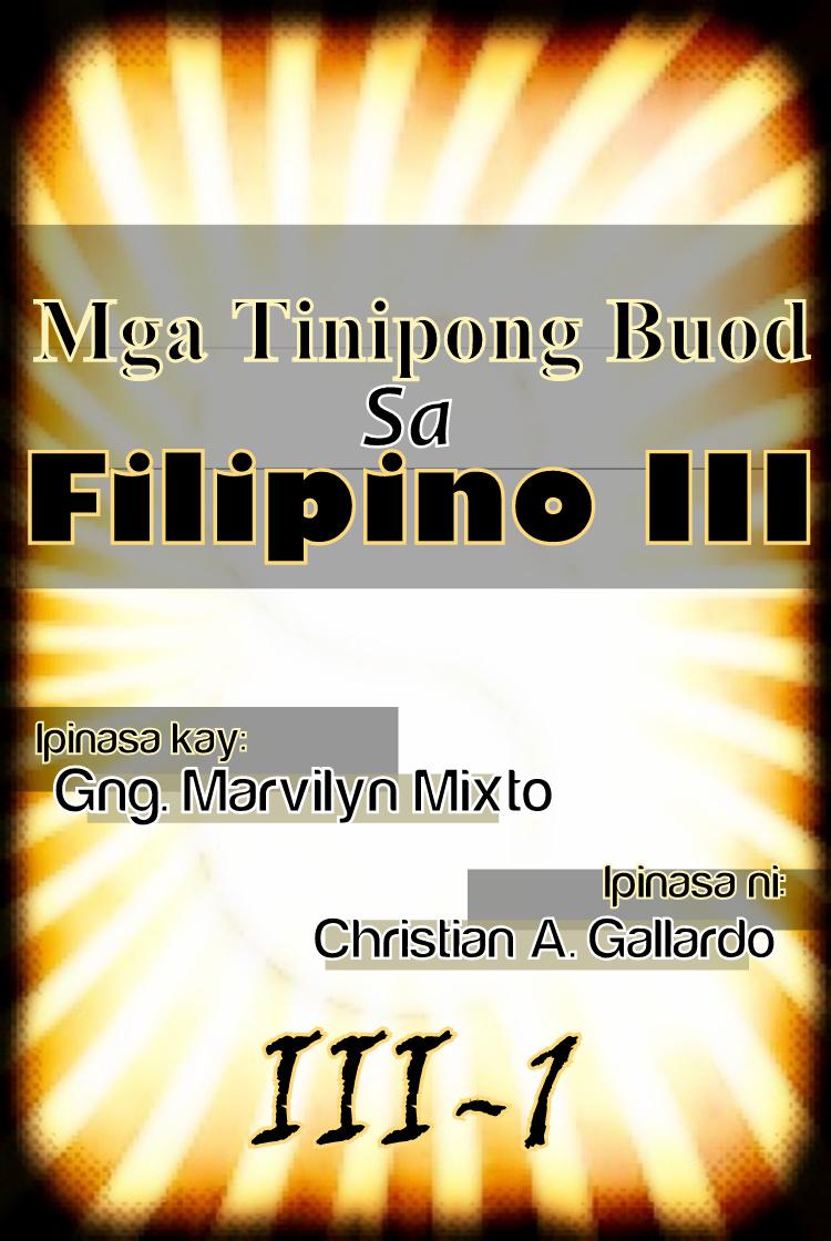 ito ang aming proyekto sa filipino iii para sa ikatlong markahan dito