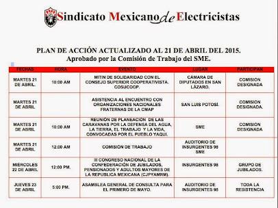 Plan de Acción Actualizado al 21 de Abril del 2015