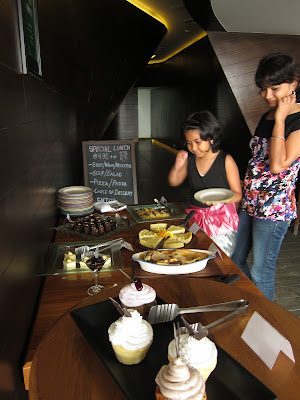 Dessert selection at Pesto Pesto Pune