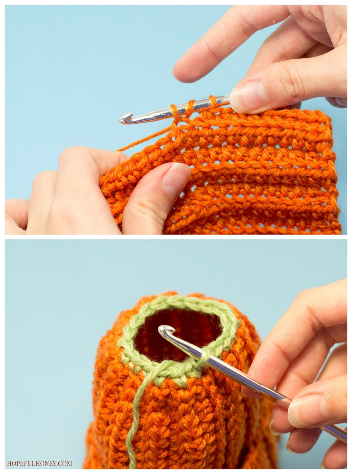 Free Newborn Pumpkin Hat Crochet Pattern : Hopeful Honey Craft, Crochet, Create: September 2014