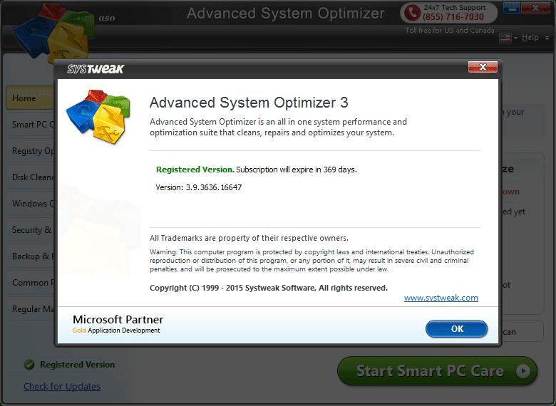 Advanced system optimizer 3 5 1000 13999
