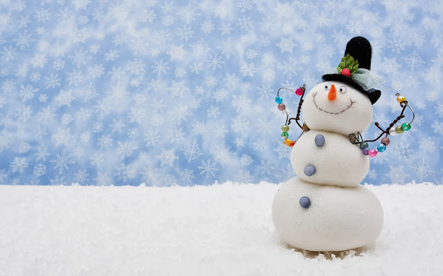 Winter wallpaper mit schneemann