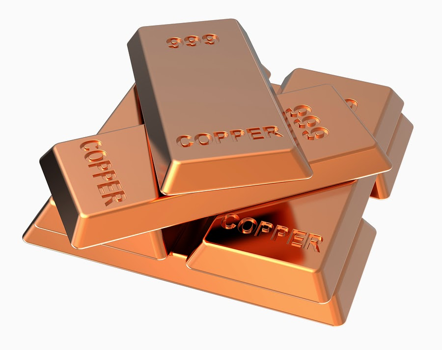 Natixis sees Copper to decline to $6,335 a ton in 2015