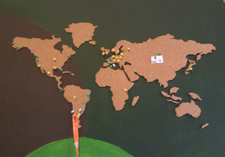 Mapa de cortiça
