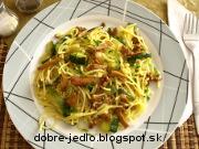 Špagety s kuriatkami - recept