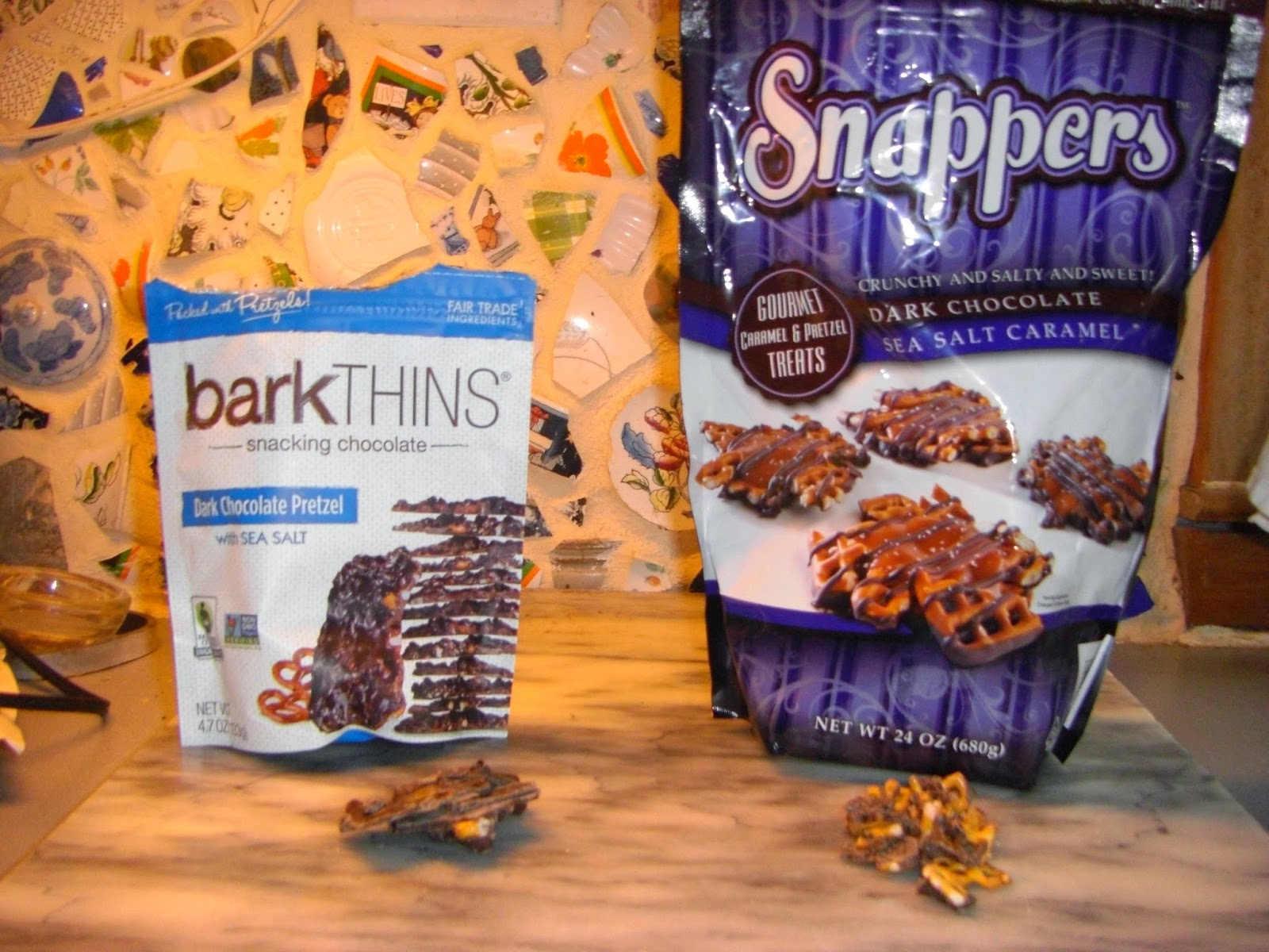 View From A Chocolate Asylum: Bark Thins vs. Snappers